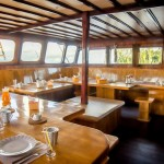 Euphoria Liveaboard diving cruise indonesia dinning area
