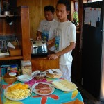 Pindito liveaboard boat diving cruise indonesia kitchen