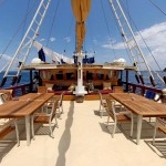 Seven Seas liveaboard boat diving cruise indonesia deck