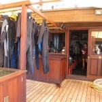 Waow liveaboard ship diving cruise indonesia deck