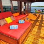 Waow liveaboard ship diving cruise indonesia lounge area