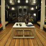 Zen liveaboard boat diving cruise indonesia luxurious saloon