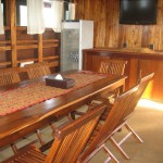 Plataran Ambasi liveaboard boat diving cruise indonesia dining room
