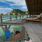 Misool Eco Resort-dive cruise indonesia-water cottage terrace