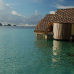 Misool Eco Resort-dive cruise indonesia-water cottage terrace at sunset